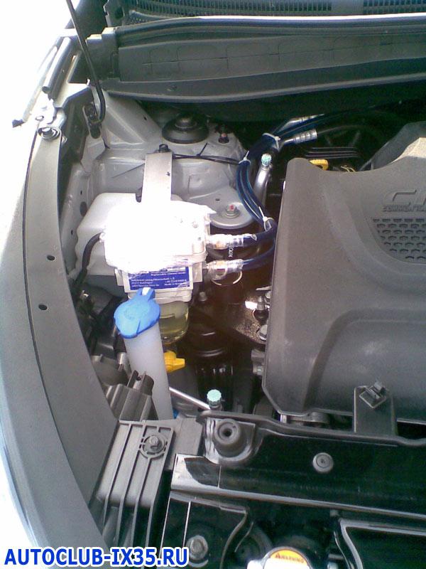 Ix35 топливный фильтр где находится